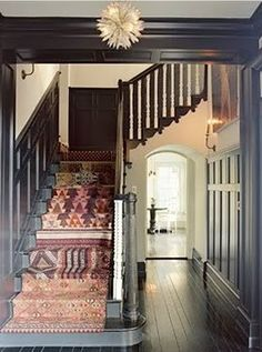 rug on the stairs