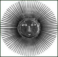 "Large Sun Design - Haitian Steel Drum Metal Art Wall Sculpture - 34"" - $159.95 -  Steel Drum Metal Art from  Haiti - Interior or Garden Décor   * Found at  www.HaitiMetalArt.com"