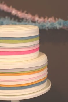 this cake is simply pretty.. a little something on top maybe?