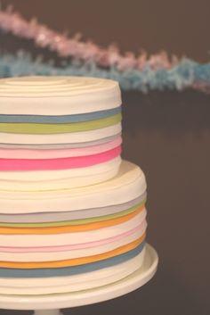 Love this layered stripe cake