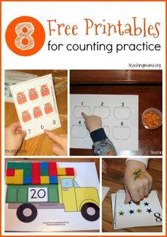 Counting: Free preschool printables