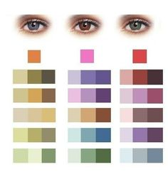 Eyeshadow hues that complement eye colors