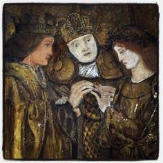 Jane Morris pre raphaelite Muse: Detail from The Tale of Sir Degrevaunt