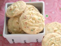 Cookies made with cake mix and instant pudding