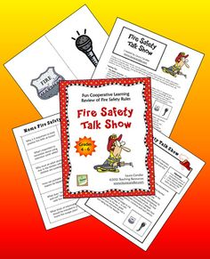 FREE Fire Safety Talk Show - Cooperative learning activity to review fire safety rules (upper elementary)