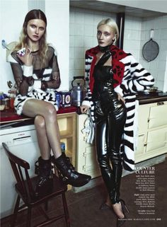 kamila filipcikova and alexa yudina by boe marion for us marie claire september 2013