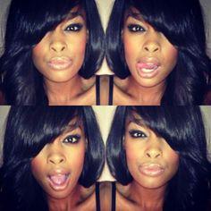Keitumetse Naomi: South African beauty #black girl #hair #weaves