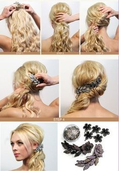 brides maid hair