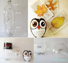 Turn a plastic bottle into a cute owl.  Gloucestershire Resource Centre http://www.grcltd.org/scrapstore/