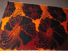 Tampella fabric, vintage modern fabric retro (finland) great color!