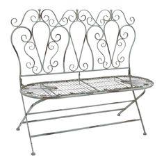 decor, iron loveseat, idea, fold metal, uma enterpris, garden benches, outdoor, metal garden, loveseats