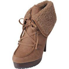 Brinley Co Women's Lug Sole High Heel Boots