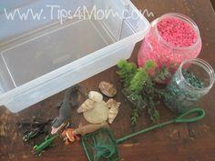 Preschool Sensory Activities: Underwater Sensory Box
