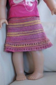 American Girl doll knitted skirt pattern - free