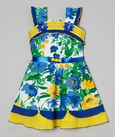 This Blue Sam de Fleur Dress - Toddler & Girls is perfect! #zulilyfinds
