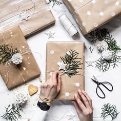 Homemade DIY Valentines's day Gift Wrapping; Christmas Gift Wrapping Decorations Ideas; Holiday Gift Decor Guide; Simple and Easy Pretty Gift Packaging; . #Geschenkeverpacken