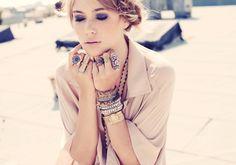 coachella, bangels, piles, stacks, gold, beads, bracelets