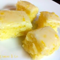 Lemon brownies oh my gosh!   Looks Yummy!!!