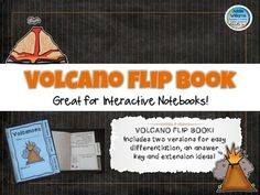 Volcano Flip Book - review and learn key volcano concepts in this easy to assemble flip book. ($)