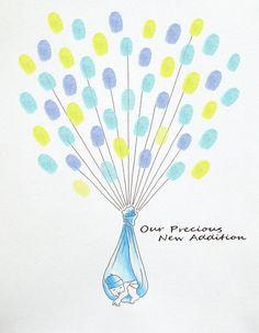 BABY SHOWER Guest Book Fingerprint Balloon.