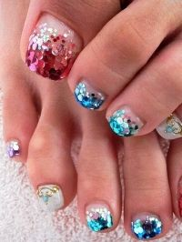 Perfect glitter toes!!!