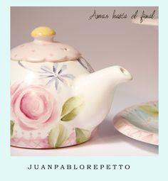 pintura sobre porcelana, Tea, Patisserie, deco