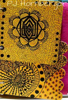 zendoodles by PJ Hornberger art journal page