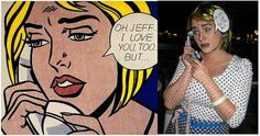 Un disfraz Roy Lichtenstein, via blog.fiestafacil.com / A Roy Lichtenstein costume, beautifully executed, via blog.fiestafacil.com