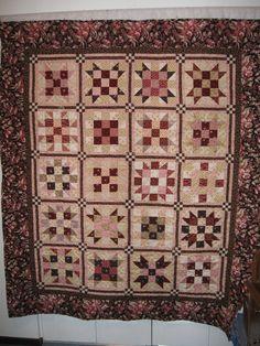 pink, brown, quilt