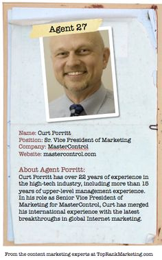 Bio for Secret Agent #27 Curt Porritt   to see his content marketing secret visit tprk.us/cmsecrets