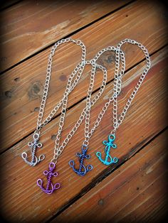 Wire Work Anchor Necklace