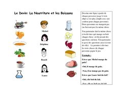 French Speaking Activity with Food Vocabulary
