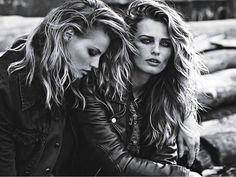 Edita Vilkeviciute & Magdalena Frackowiak By Lachlan Bailey For W Magazine September 2013