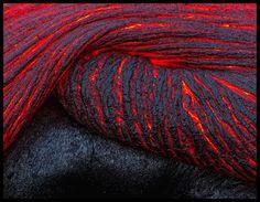 """Folding Lava"" - Kilauea, Hawaii, by Justin Rexnick"