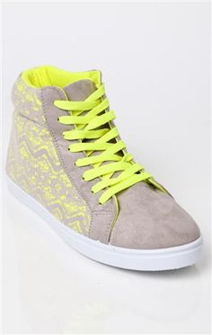Deb Shops high top #sneaker with #lace overlay $20.24