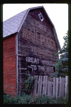 The old Mail Pouch barns