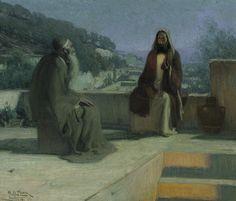 Henry Ossawa Tanner - Jesus and nicodemus