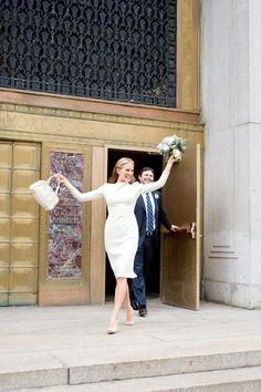 City Hall wedding dress (love the photo too)
