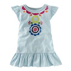 i love the rainbow screen print and the flutter sleeves of this top. so cute!! #TeaSummer