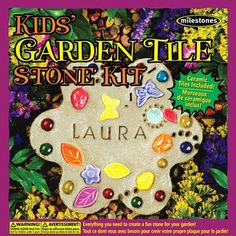 kids craft garden tile