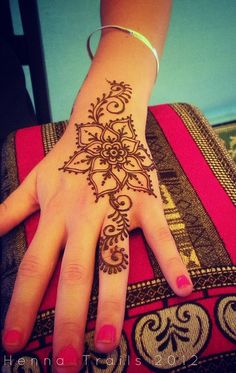 I want the design of my tattoo going from the top of my wrist up to the tip of my finger