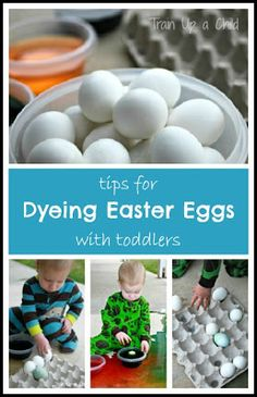 Train Up a Child: Tips for Dyeing Easter Eggs with Toddlers
