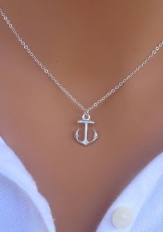 tiffany and co. anchor necklace