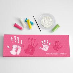 Gift Ideas large handprint canvas set from RedEnvelope.com