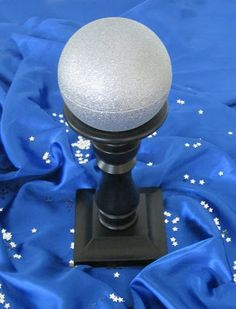 """""""For divination class, I created a crystal ball by taking a Magic 8 Ball toy and painted it with silver glitter spray paint. The kids wrote down question and then asked the crystal ball for the answer.""""  *SweetenYourDay Events*"""