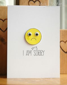 """Sorry"" card, by Lucy Abrams"