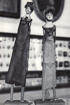French Wooden Dolls; 1812