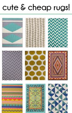 Another batch of bold, beautiful and affordable rugs! from prettyprovidence.com