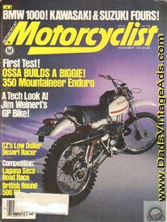 1976 Ossa 350 Enduro – first test on the newest & biggest Ossa