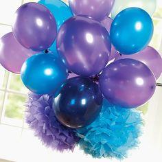 fluffy decorations for centerpieces. birthday parti, bubble guppies, centerpiec, tissue paper flowers, bubbles, fluffi decor, balloons, parti idea, blues
